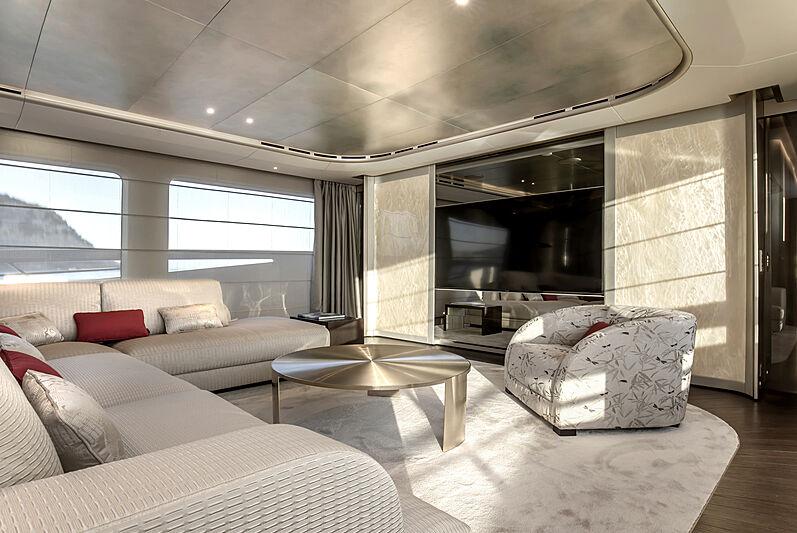 Tecnomar Evo 120 hull 582 yacht saloon