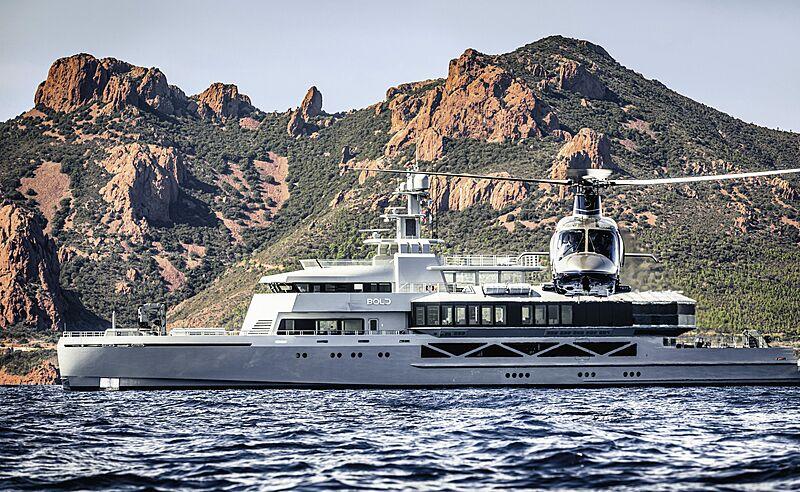Bold superyacht cruising