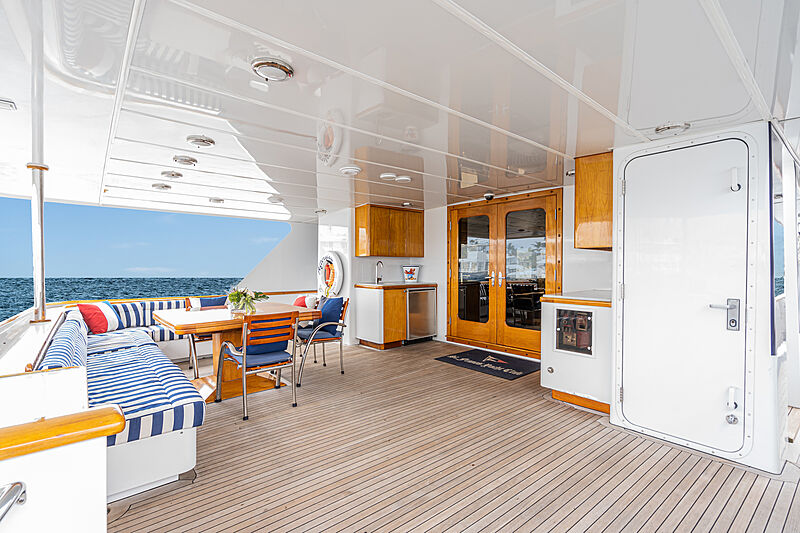 Afterglow yacht deck