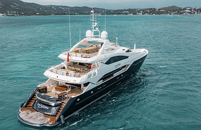 Marin yacht anchored