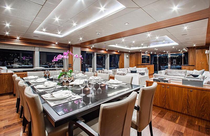 Marin yacht dining room