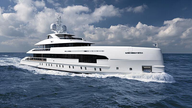 Ela yacht on sea trials