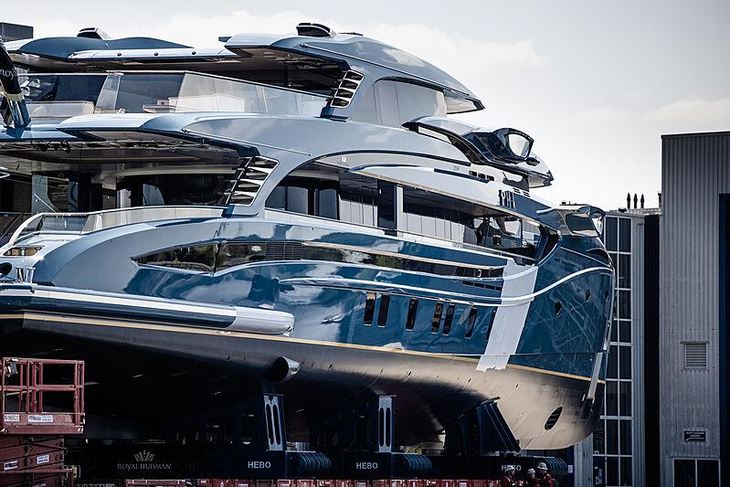 Phi yacht launch at Royal Huisman