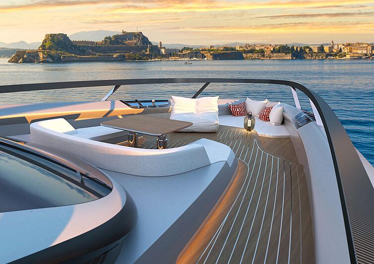 Azurite yacht concept Infinit-e 88