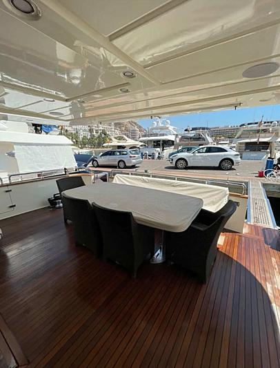 Liberata yacht aft deck
