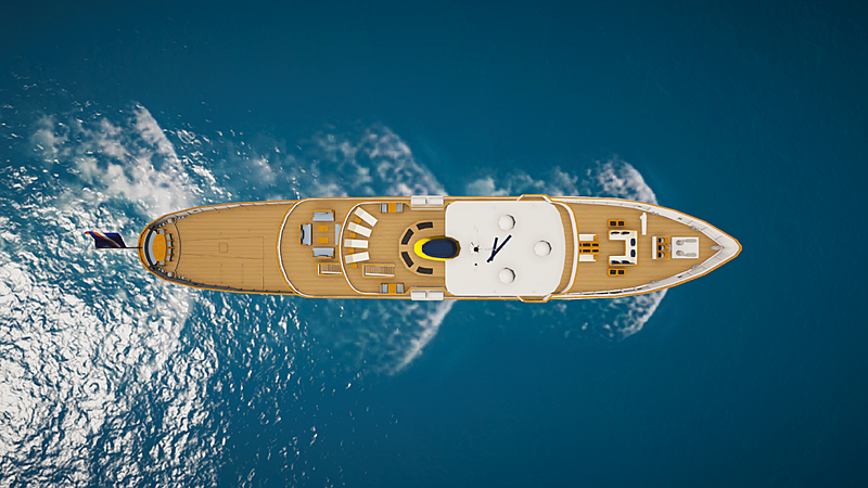 Blue II yacht in SYT 3D