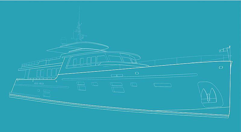 Ocea 32.7M yacht drawing