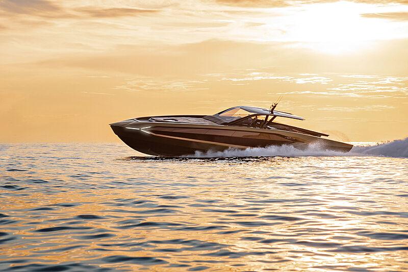 Tecnomar for Lamborghini 63 yacht cruising
