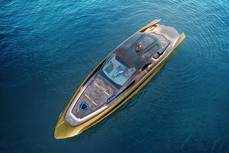Tecnomar for Lamborghini 63 yacht anchored