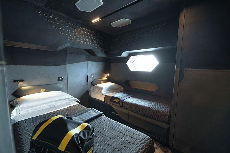 Tecnomar for Lamborghini 63 yacht stateroom