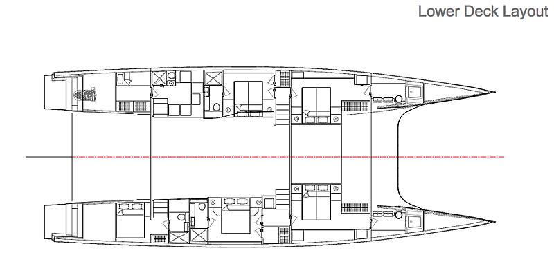 MC82p yacht lower deck layout