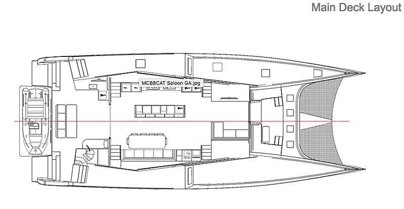 MC82p yacht main deck layout