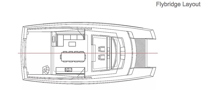 MC82p yacht flybridge layout