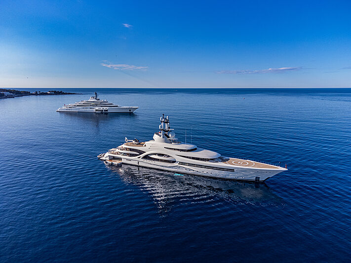 Anna and Eclipse superyachts on the French Riviera