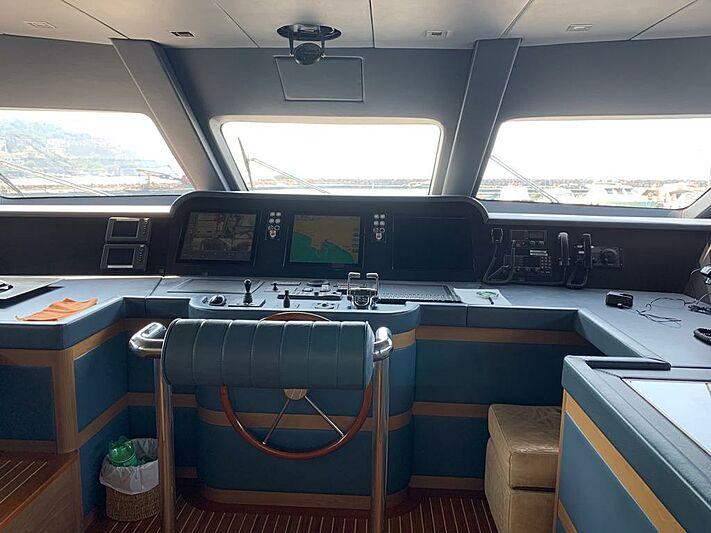 Serenity Mia yacht wheelhouse