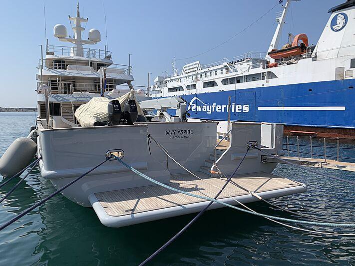 Masquenada yacht in marina