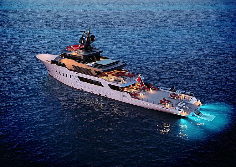 Masquenada yacht anchored