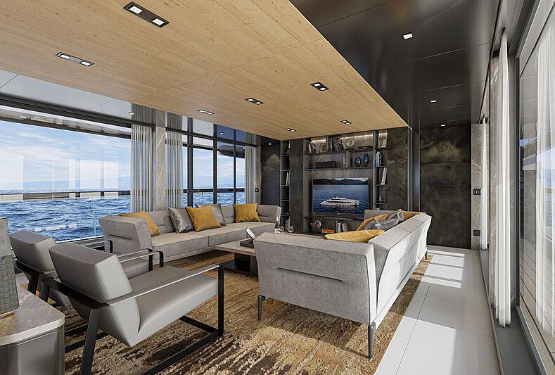 Atlantique 37m yacht model interior