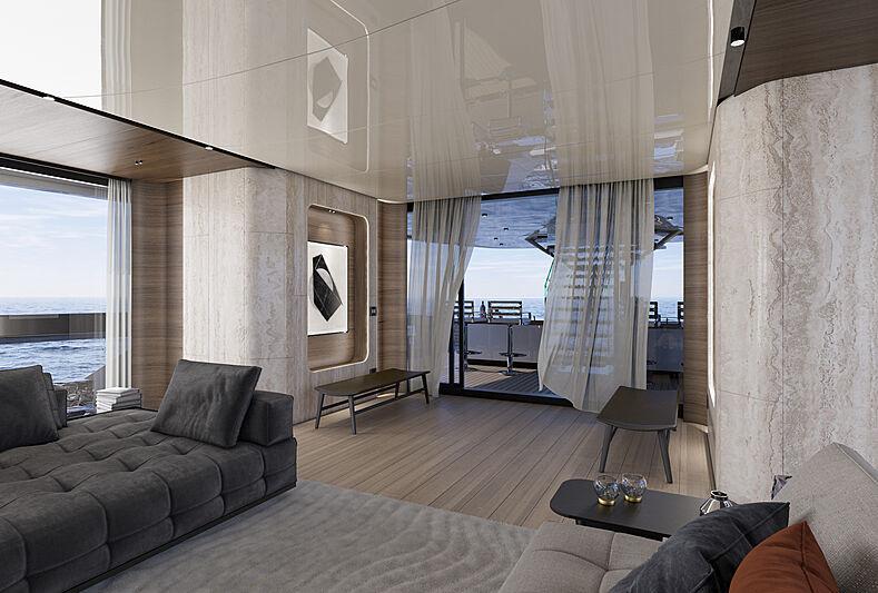 Atlantique 55m yacht model interior