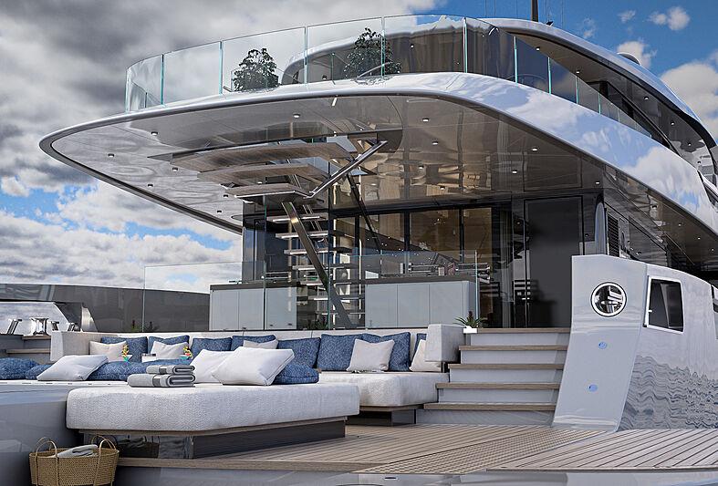 Atlantique 55m yacht model deck