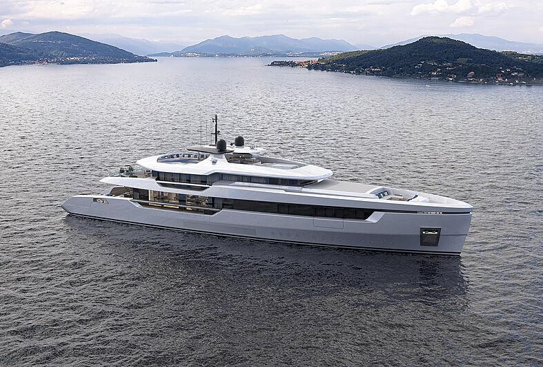 Atlantique 55m yacht model exterior