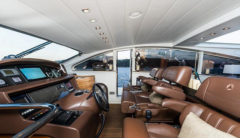 Paloma yacht wheelhouse