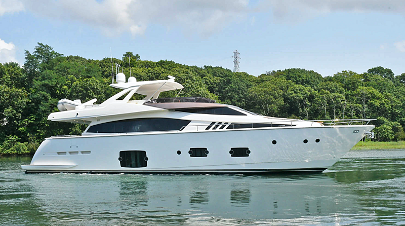 Montrachet yacht anchored
