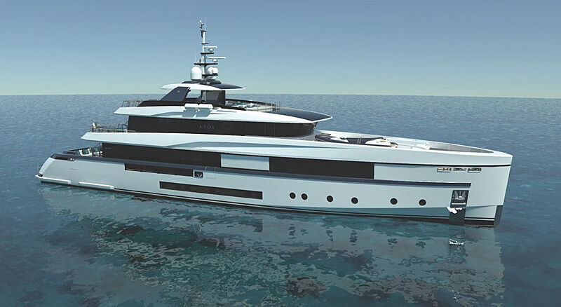 Atos 46 yacht concept render exterior