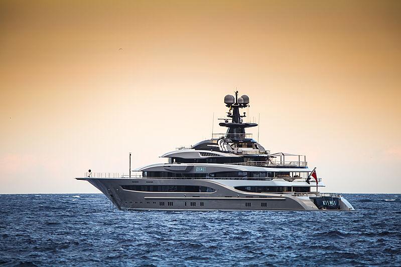 Kismet yacht anchored in Monaco