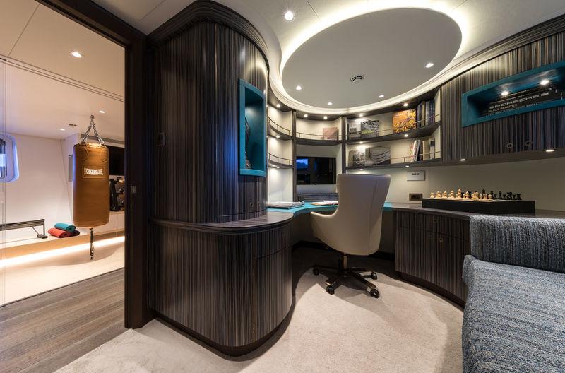 Ngoni yacht study room