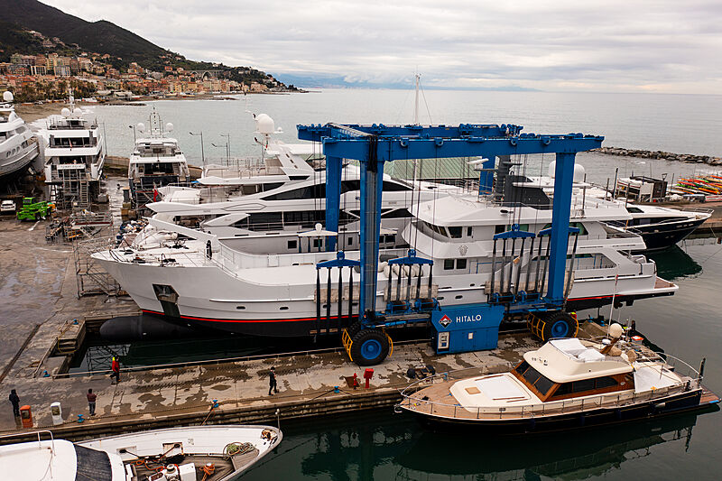 Far Far Away yacht refit in Varazze