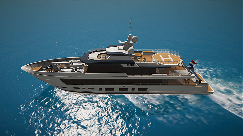 Diana R.50 yacht concept in SYT 3D