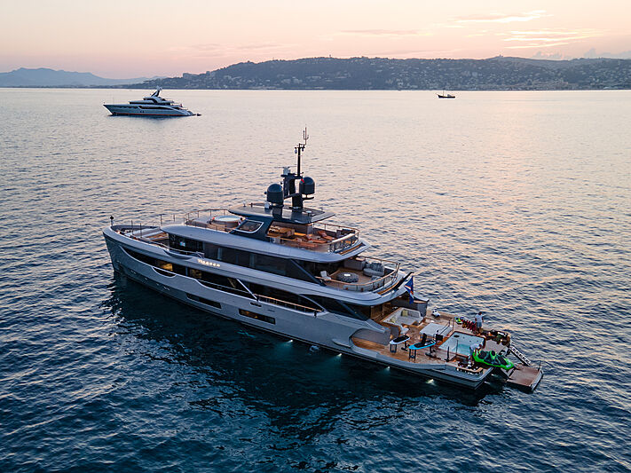 Rebeca yacht anchored on the French Riviera