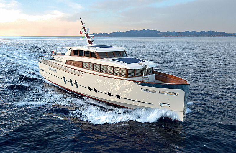 24m Gentleman\s yacht by Luca Dini Design & Architecture