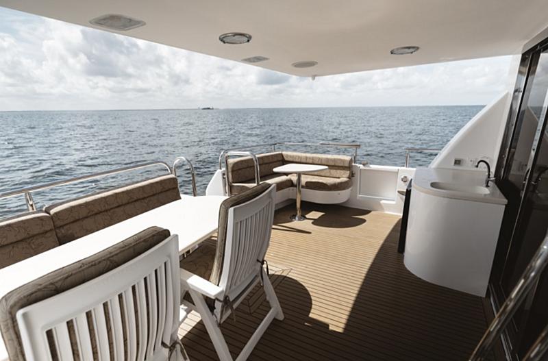 Double Eagle yacht aft deck