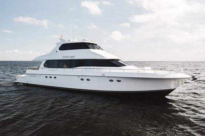 Double Eagle yacht anchored