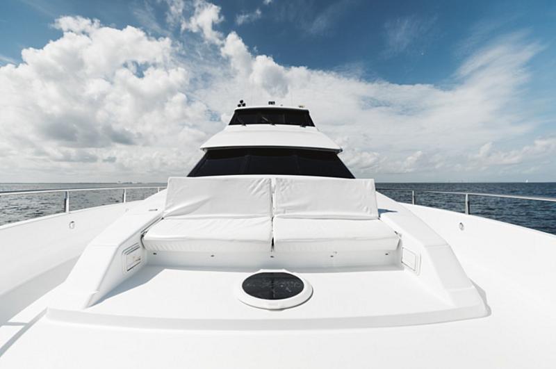 Double Eagle yacht foredeck