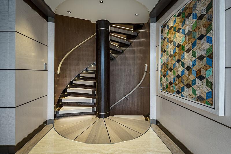 Moskito yacht staircase