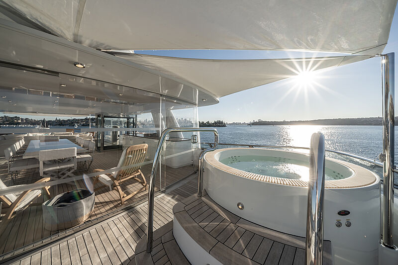 Moatize yacht deck