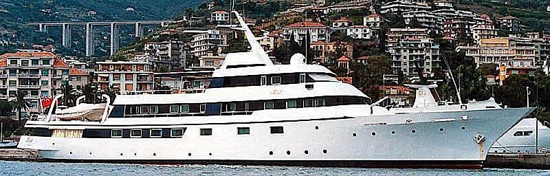 Adel XIII yacht anchored