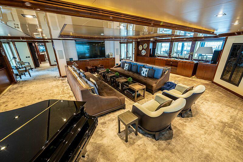 Azteca yacht saloon
