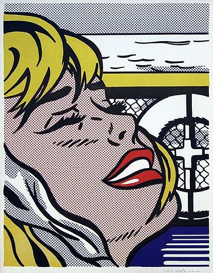 Snowbird yacht artwork Roy Lichentstein Shipboard Girl