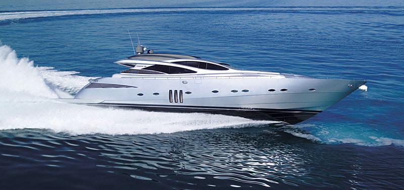 Pershing 90 Open yacht cruising