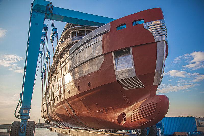 Benetti B.Yond #1 yacht hull in-build