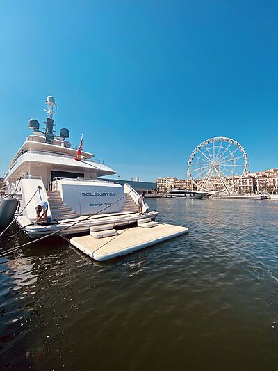 Solemates swim platform from Superyacht Inflatables of SYTT