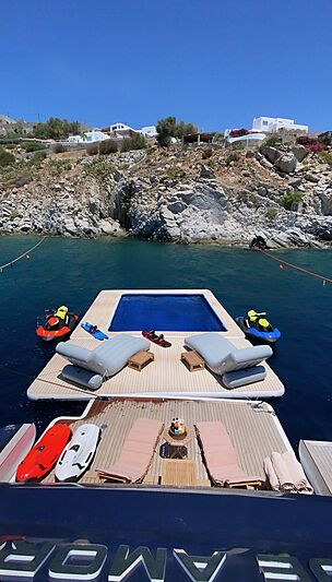 Inflatable sea pool from Superyacht Inflatables of SYTT