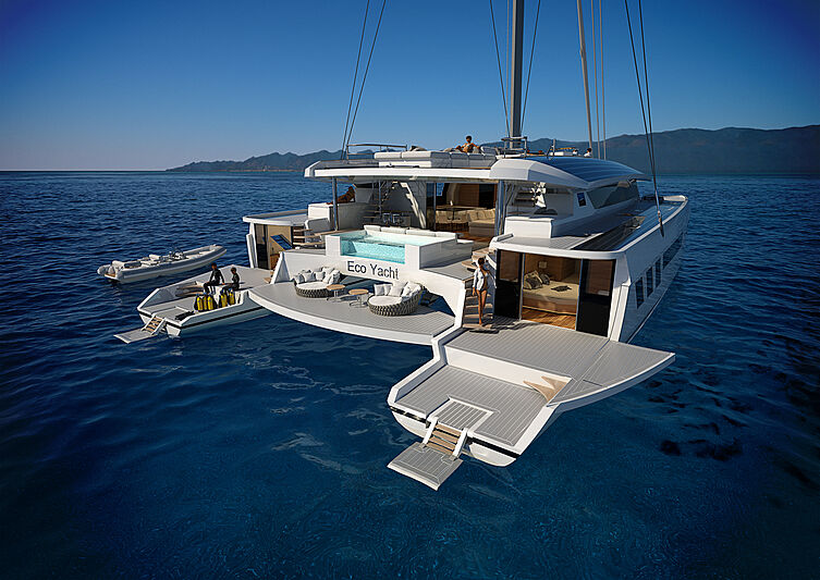 145 EcoYacht catamaran concept