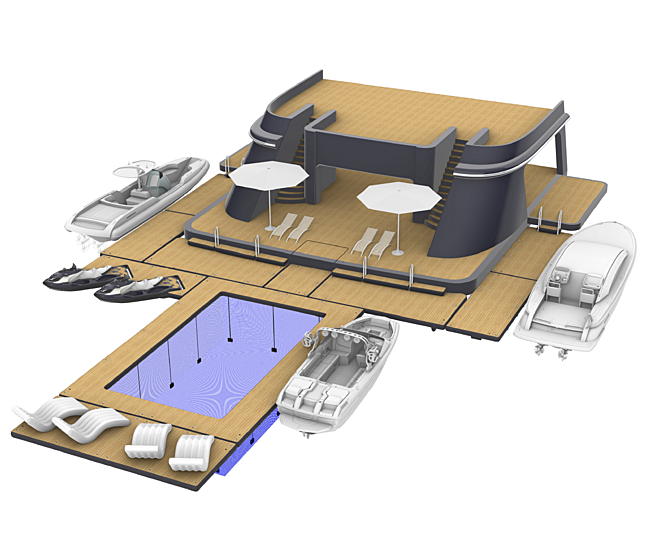 Beach club from Superyacht Inflatables of SYTT