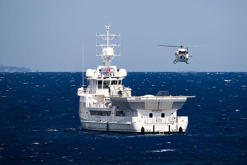 Intrepid yacht anchored