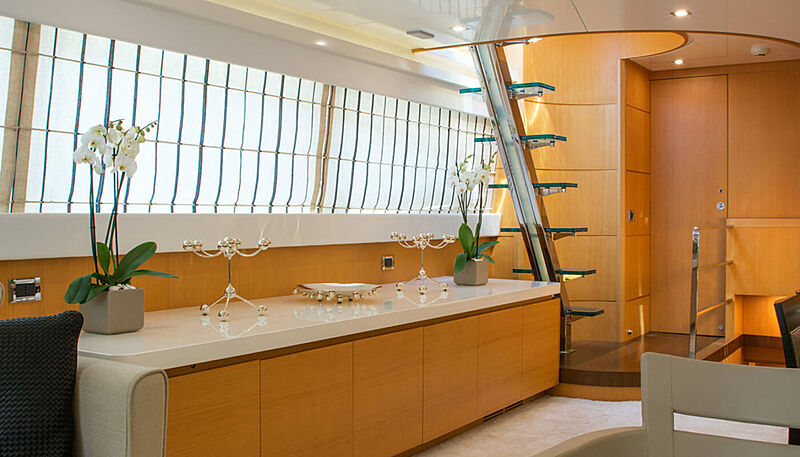 Habano yacht staircase